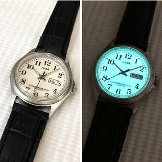 アルバ(ALBA)のALBA 蓄光機能付き メンズクォーツ腕時計 電池あり ベルト新品(腕時計(アナログ))