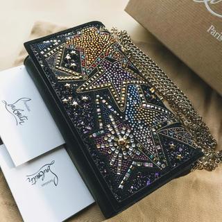 Christian Louboutin - ルブタン★ Boudoir ビーズ刺繍 チェーンウォレット 16万