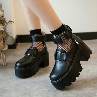 ベルト付き厚底 ミルクボーイ モノマニア ミーア ザラ(ローファー/革靴)