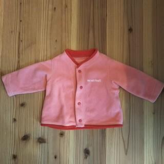 モンベル(mont bell)のモンベル クリマプラス アウター ベビー 70 ピンク 羽織り(ジャケット/コート)