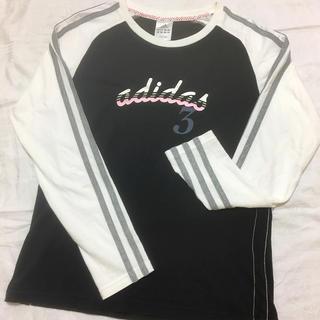 アディダス(adidas)のadidas ラグラン袖ロンT レディースL(Tシャツ(長袖/七分))