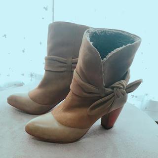 オゥバニスター(AU BANNISTER)のオゥバニスター ミドルブーツ 35 キャメル 22.5(ブーツ)