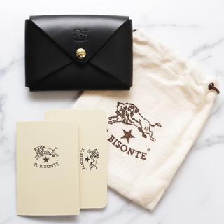 イルビゾンテ(IL BISONTE)の新品 イルビゾンテ 名刺入れ オリガミ ブラック カードケース ケース ブランド(名刺入れ/定期入れ)