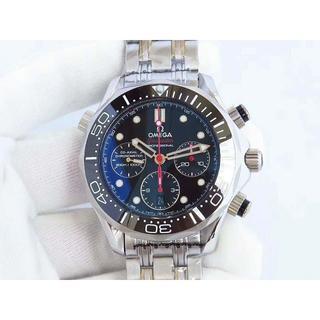 オメガ(OMEGA)のOMEGA 時計 自動巻き1:1 新品同様 腕時計 メンズ シルバー(腕時計(アナログ))