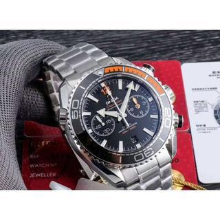 オメガ(OMEGA)の新品 OMEGA 時計 自動巻き1:1 腕時計 メンズ ブラック(腕時計(アナログ))