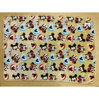 ディズニー(Disney)の【新品・送料無料】ミッキー&ミニー ベージュ ひざ掛け 約70×100cm(毛布)