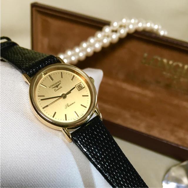 LONGINES - 美品✨電池・ベルト交換、クリーニング済み!LONGINES レディース 時計の通販