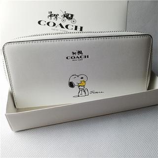 コーチ(COACH)のコーチ53773 スヌーピー COACH x SNOOPY 長財布 アウトレット(長財布)