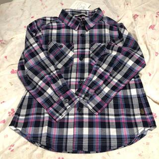 サンカンシオン(3can4on)の新品!ブルーピンク♡チェックシャツ(ブラウス)