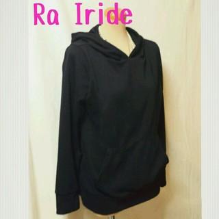 イリーデ(Ra Iride)のRa Irideパーカートレーナー黒(パーカー)