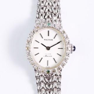 ウォルサム(Waltham)のアンティーク  ウォルサム  SV925 レディース /ダイヤベゼル・腕時計(腕時計)