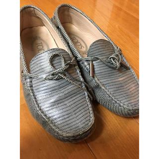 トッズ(TOD'S)のトッズ TOD'S シューズ グレー 値引き(ローファー/革靴)