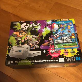 ウィーユー(Wii U)のWiiUスプラトゥーンセットとスーパーマリオプラザーズ(家庭用ゲーム本体)