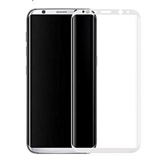 ホワイト ギャラクシー S9/plus  強化ガラス 全面保護フィルム(スマートフォン本体)