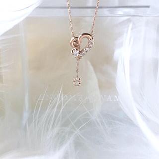 ヴァンドームアオヤマ(Vendome Aoyama)のヴァンドーム青山  K10PG  ダイヤモンド ハート ラブル ネックレス(ネックレス)