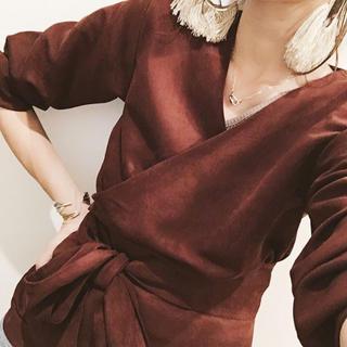 Ungrid - 新品 定価9612円 ungrid フェイクスウェードシャツ