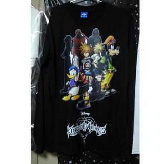 ディズニー(Disney)のKHⅡオリジナルTシャツ(黒)(Tシャツ/カットソー(七分/長袖))