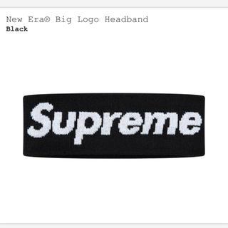シュプリーム(Supreme)のsupreme new era big logo head band 黒(バンダナ/スカーフ)