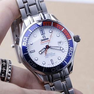 オメガ(OMEGA)の OMEGA  自動巻き メンズ腕時計  NOOB 白文字盤 (腕時計(アナログ))