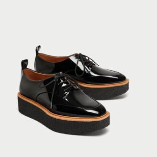 ザラ(ZARA)のZARA プラットフォームブルーチャー(ローファー/革靴)