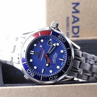 オメガ(OMEGA)の OMEGA  自動巻き メンズ腕時計  NOOB 青文字盤(腕時計(アナログ))