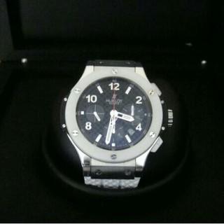 ウブロ(HUBLOT)のHUBLOTウブロビッグバンホワイトセラミック301RW613853自動巻時計 (腕時計(アナログ))