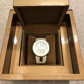 グッチ(Gucci)のアイグッチ GUCCI 時計 デジタルウォッチ ホワイトシェリーライン(腕時計(デジタル))
