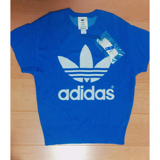 アディダス(adidas)のアディダスadidasの綿ニット半袖 未使用 タグ付き(Tシャツ(半袖/袖なし))