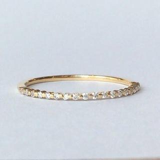 アガット(agete)のシエナ siena Fil du diamond リング ダイヤの糸 k18(リング(指輪))