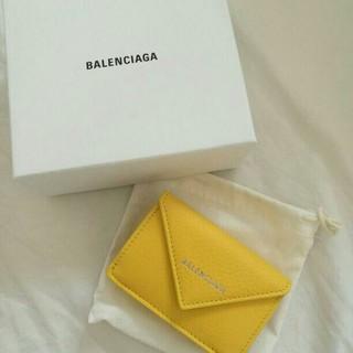 Balenciaga - バレンシアガ 定番人気のミニ財布イエロー