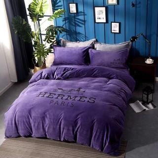 ★限定品!! 高級感 寝具カバー 2枚枕カバー 4点セット 掛け布団カバー