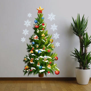 クリスマスツリーのウォールステッカー 壁紙 賃貸OK 新品
