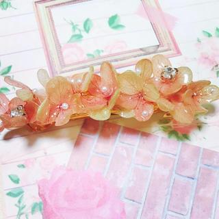 秋色紫陽花バレッタ 8cm(ヘアアクセサリー)