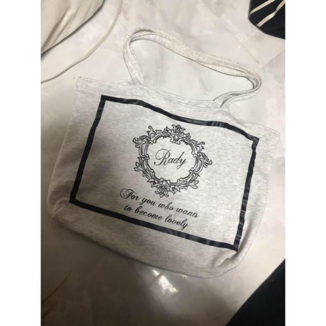 Rady(レディー)のrady radyちゃんトートバッグ バック かばん 鞄 ロゴ フレーム ミニ レディースのバッグ(トートバッグ)の商品写真