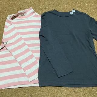 MUJI (無印良品) - 女の子 長袖カットソー 110 2枚セット