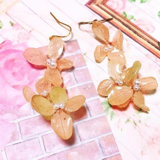秋色紫陽花ゆらゆらピアス(ピアス)