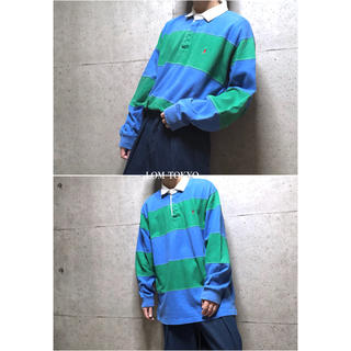[used]'Ralph Lauren' blue rugger shirt.(ポロシャツ)