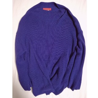 ソフィット(Soffitto)のsoffitto オーバーサイズニット ブルー(ニット/セーター)
