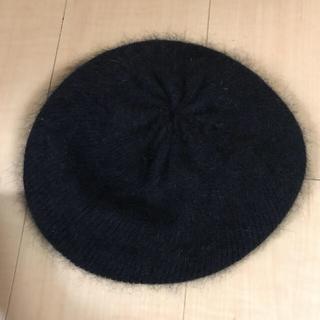 ザラ(ZARA)の黒ベレー帽(ハンチング/ベレー帽)