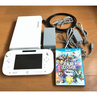 ウィーユー(Wii U)のwiiU本体セット【32GB】+大乱闘スマッシュブラザーズ(家庭用ゲーム本体)