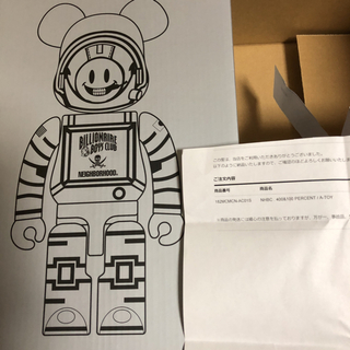 NEIGHBORHOOD×BBC BE@RBRICK 400% & 100%