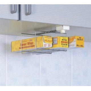 MUJI (無印良品) - 吊り戸はさみ用 ラップホルダー ステンレス 吊り下げ