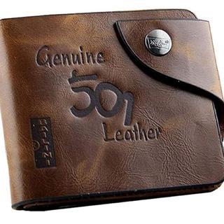 メンズ ウォレット 二つ折り財布  新品 送料無料(折り財布)