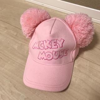 Disney - ミッキー ポンポンキャップ 帽子 ディズニー