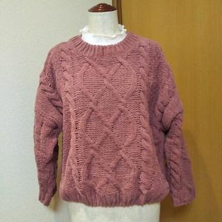シマムラ(しまむら)のしまむら もてニット♪厚手 セーター モール毛糸 ケーブル編み プルオーバー(ニット/セーター)