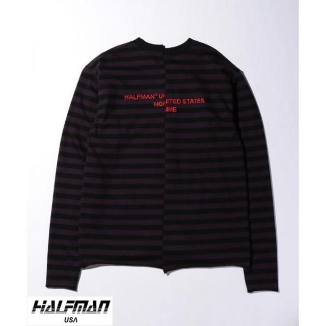 """HALFMAN(ハーフマン)の【名作】HALFMAN STRIPE LOOSE LS/ TEE """"サイズXL"""" メンズのトップス(Tシャツ/カットソー(七分/長袖))の商品写真"""