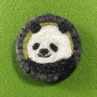 羊毛フェルトブローチ パンダ(コサージュ/ブローチ)