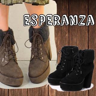 ESPERANZA - ESPERANZA レースアップブーツ L