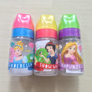 Disney - ラスト【新品】ディズニープリンセス哺乳瓶 3本セット 125ml  星型キャップ