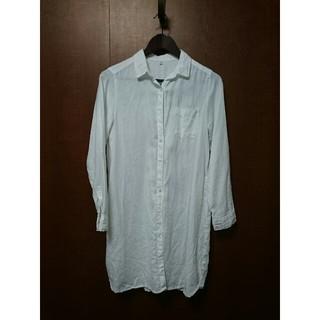 ムジルシリョウヒン(MUJI (無印良品))の無印良品 リネン 麻 ロングシャツ white M(シャツ/ブラウス(長袖/七分))